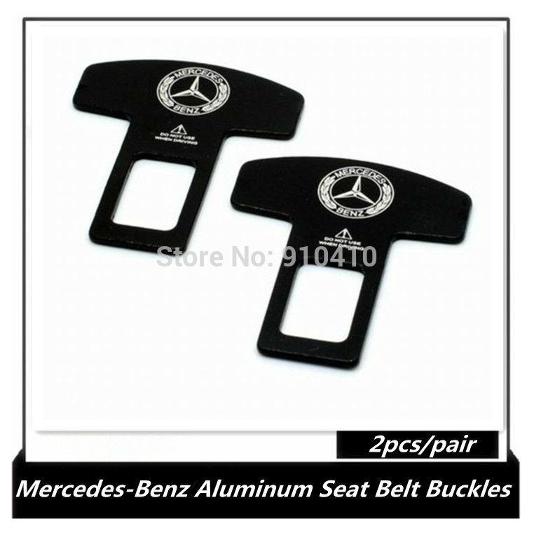 Aluminum alloy seatbelt buckle, Mercedes-Benz car seat belt buckles, 2pcs/pair metal buckle belt(China (Mainland))