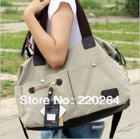 Free shipping in stock Guaranteed 100% original Azolla 2013 women's canvas bag handbag casual big school portable messenger bag