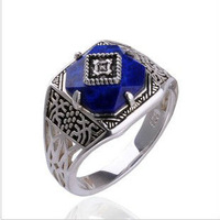 Freeshipping wholesale 20pc a lot The Vampire Diaries caroline Ring Alloy with Blue Semi-precious Stone Vampire Jewelry BB33