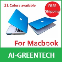 "High Quality Rubberized Fosted Matte Cover Sheel Case For Macbook All Models Air 11"" 13"" Pro 13"" 15"" New Retina, Free Drop Ship."