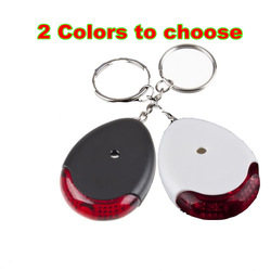 NEW LED Sound Control Lost Key Torch Finder Keyring Keychain Brand New(China (Mainland))