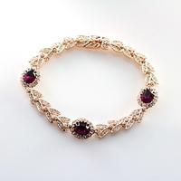 Hight Quality Luxury Bracelet Fashion Austrian Crystal Bangles 18K Gold Plated Bracelet Free Shipping