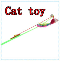 3 pcs High Quality For Pet Cat Bell The Dangle Faux Mouse Rod Roped Funny Fun Play  Playing Toy