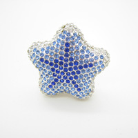 New arrival small car outlet perfume seat diamond five-pointed star crystal tuyeres