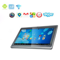Hot sell ALLWinner A13 Q88 Tablet PC - 7 inch Capacitive Screen + Android 4.0 + Camera + Wifi + 1.2GHz