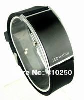 Dropshipping 2014 Unisex Luxury Black Fashion Digital Sport Silicone Dress Watch for men LED Wristwatch for women