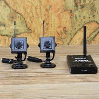 2*mini camera + mini dvr Digital wireless: video +audio+ playback + Motion Detection = set to solve  wireless camera
