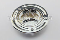 motorcycle parts Chrome Keyless Fuel Tank Gas Cap For Kawasaki ZX-6RR 2003 2004 2005 2006