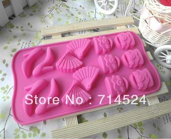 FREE SHIPPING,New Arrived ,Creative  Eco Silicone Cake Mold Tool Re-useable ,Soap Candles  Mould.
