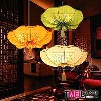 40CM beauty lighting lamps Chinese marine fabric lamp romantic neo-classical modern lotus leaf chandelier Specials