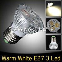 Free shpping E27 Warm White 3W Led Energy Saving High Power Spot Light Lamp Bulb 85V-240V New
