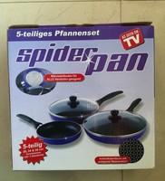 5pcs Spider pan ceramic pan non-stick  frying pans as seen on TV