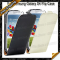 Free shipping New Flip case Genuine Leather Case 2 style for Samsung Galaxy S IV S4 i9500, 1 x case + 1 x Screen Protectors