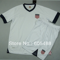 Free shipping ! USA 2013 Centennial Soccer Jersey,white USA jerseys,USA SOCCER UNIFORMS(China (Mainland))