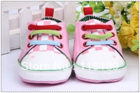 Baby toddler shoes, soft bottom frog prince design, special offer $5.5 for a pair of free shipping