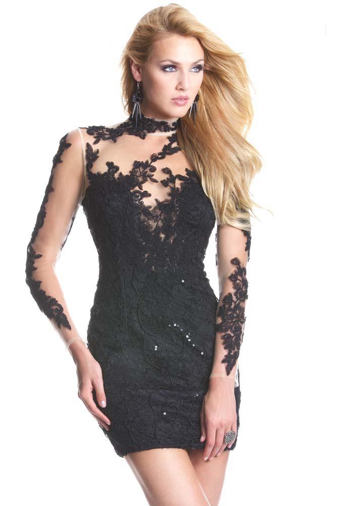 REGALOS DE LOS AMIGOS INVISIBLES PARA PENDRIVE 2013-Fashion-Designer-Sexy-Black-Lace-font-b-Evening-b-font-Prom-font-b-Dress-b