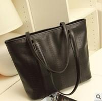 Women's handbag fashion vintage bags big bag crocodile pattern fashion women's handbag shoulder bag free shipping