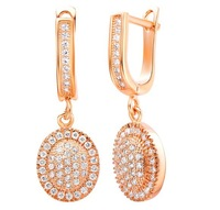 New arrival ! fashion jewelry 18k gold / platinum plated zircon earrings