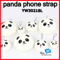 WHOLESALE panda mobile phone strap bread charm Cute pendant fashion cute promotion chinese gift 20pcs/lot say hi YW 30218L
