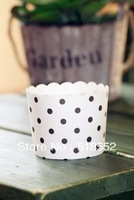 500 pcs Round bucket paper cake cups, MUFFIN CUPCAKE CASES, bake baking cup,cake holder H122