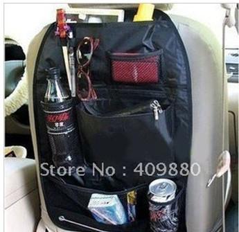 Car multi Pocket Storage Organizer Arrangement Bag of Back seat of chair - Free shipping-black 06092*2