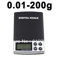 200g / 0.01g Electronic LCD Digital Porket Weighing Jewelry Balance Weight Scale with retail box