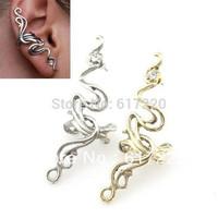 #100 Free Shipping New Fashion Punk Jewelry Women Rhinestone Ear Cuff Earrings Wholesale 24pcs/lot