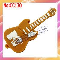 Wholesale 1GB 2GB 4GB 8GB 16GB 32GB 64GB Yellow Guitar USB Flash Drive+Free shipping #CC130