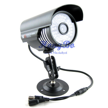 48 LED Color Night Vision Indoor/Outdoor security CMOS IR CCTV Camera with Bracket