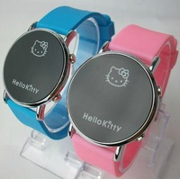 2013 Alibaba Express Hot Hello Kitty Deluxe Led Digital Date Sport Watch Boys Girls Christmas gift free shipping