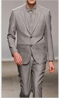 Free Shipping! Top Sells! Men's brand Grey suits Handsome Business &Wedding dress Suits for men coat +pants S-4XL
