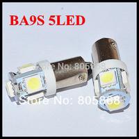 10pcs LED color BA9S 5 SMD 5050 LED Light bulbs 5-SMD  Car Indicators Light Interior Bulb Wedge Lamp