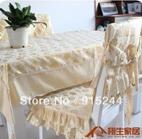 Tablecloth table linen dining chair set cushion western hotsale desk cloth bronzier set chair covers fashion fabric hometextile