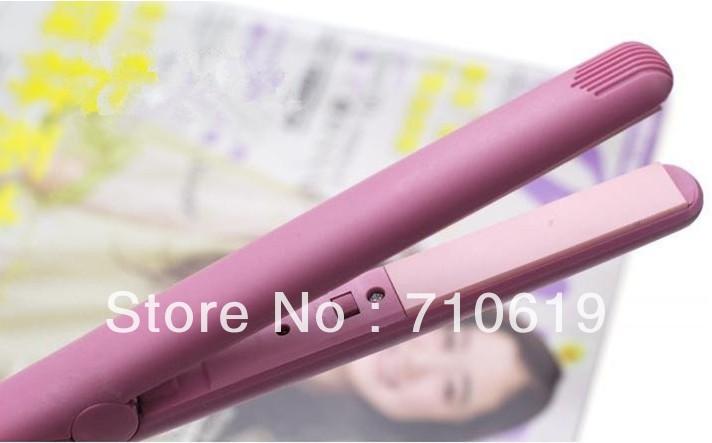 FedEx 500шт/много мини-Розовый электронные утюжок выпрямитель плоского железа с убытками box