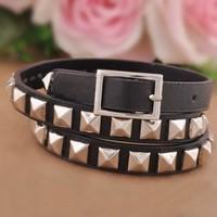 Free Shipping,Fashionable Wholesale Leather Bracelet Bangle For Women