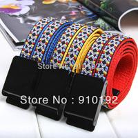 2014 print canvas belt male fashion decoration all-match belts vintage automatic buckle