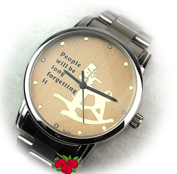 free ship stainless steel watch,lovers' imported quartz watches,cockhorse watches,Min. order $15 free ship.TWS004(China (Mainland))