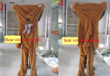 Freeshipping empty Plush teddy bear 1.8m Giant life size bear  shell coat clothing with zipper on back for sale