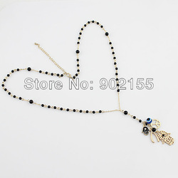 Fashion imitation stone hand evil eye peace multielement antique pendant necklace and free shipping(China (Mainland))