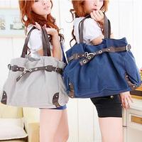 2014 New Fashion Women Shoulder Bags/Canvas Casual Women Handbags/Brand Blue Coffee Grey Camel Women Bags
