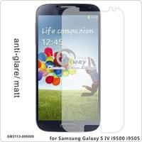 By real phone making for Samsung Galaxy S4 i9500, non fingerprint Matt /Anti-Glare high transparent Screen Protector
