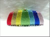 new arrival handbags new print luxury 2013 designer handbags crystal clutch bag free shipping