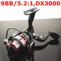 New 2013 High Quality 9BB/5.2:1 Fishing Spinning Reel Pesca Fishing Tackle DX3000 GT090