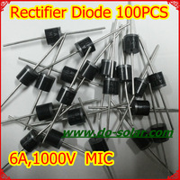 100PCS MIC 6A10 6A 1000V Rectifier Diode for solar panels, DIY solar system in stock