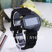 1pcs Water resist Stealth Aircraft Shape Sports LED Digital Silicone airplane plane Wrist Watch military watch