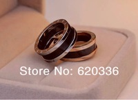 Min order $25(mix order) free shipping18k gold plated ceramic crystal ring+titanium steel vintage jewelry ,women mixed ring lot