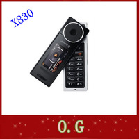 Original  X830 music phone Rotatable cell phone internal 1GB mobilephone wholesale