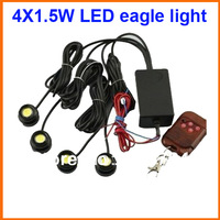 Free shipping 4*1.5W IP68 strobe flash eagle eye light led car reversing light backup light tail stop daytime running light