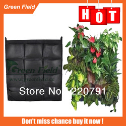 12pockets Black Felt Home Garden Living Wall Planter / Vertical Garden living wall planter(China (Mainland))