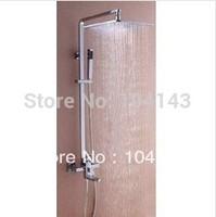 """Fashion Newly 12"""" Big LED Square Shower Head Bathroom Rainfall Shower Faucet Set LJ-50072C"""